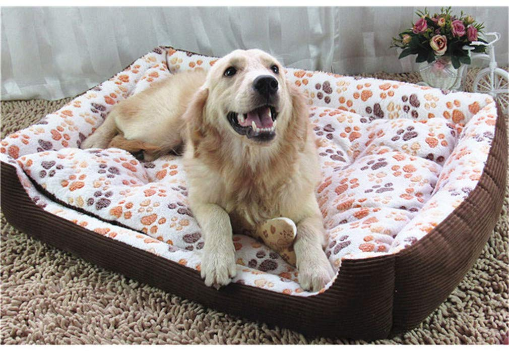 As Picture2 L 80x65x15cm As Picture2 L 80x65x15cm elvnx Breed Dog Bed Sofa Mat House Pet Bed House For Dogs Big Blanket Cushion Basket As picture2 L 80x65x15cm