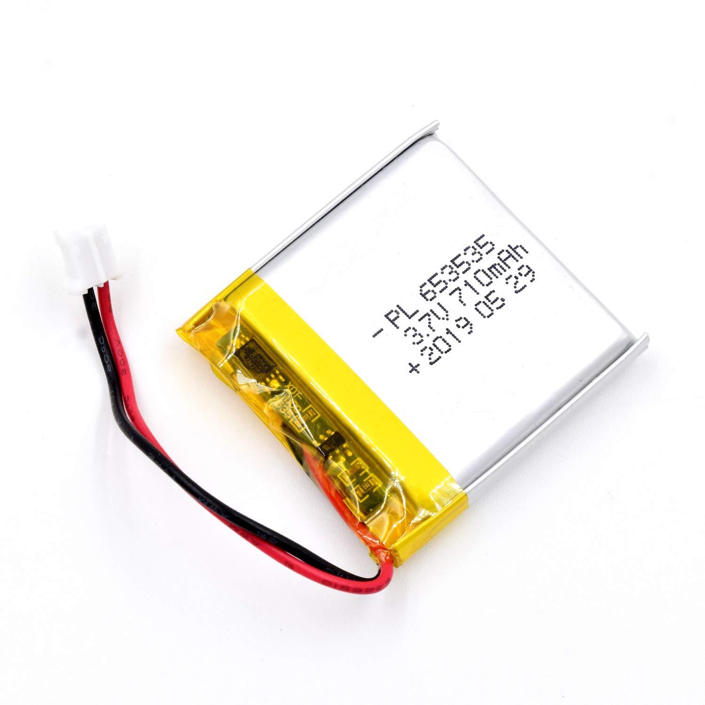 Bateria Lipo 3.7V 710mAh 653535 Recargable JST Conector