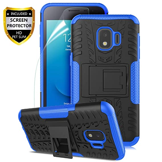 sale retailer e77e9 d9e35 Samsung Galaxy J2 Case,Galaxy J2 Core Case/J2 Dash/J2 Pure/J260/J2  Shine,Numy Dual Layer Shockproof,w HD Screen Protector,Protective w  Kickstand Hard ...