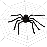 HAOYUNTE Halloween Large Spider Giant Spider Web Decorations, for Indoor and Outdoor Halloween Spider Decorations (Large…
