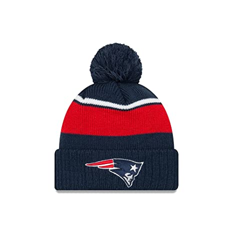 super popular 082a2 c04b6 Image Unavailable. Image not available for. Color  New England Patriots New  Era Call Out Cuff Pom Knit Beanie ...