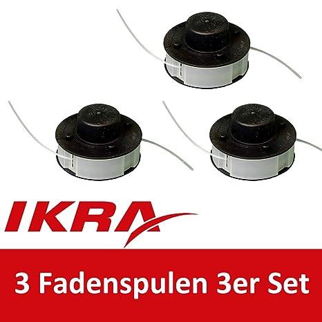 Trimmerspule Set mit 3 Spulen Ersatzspule Rasentrimmer Freischneider Motorsense