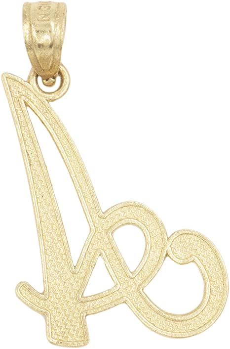 Available in Different Letters of Alphabet Personalized Charm for Women Ice on Fire Jewelry 10k Solid Gold Initial Pendant in Heart Frame with Diamond Cut Finish