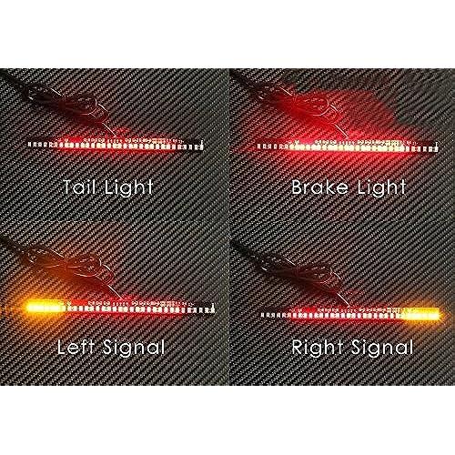 Led brake light strip amazon motorcycle light strip prime autobots 33 led tail brake stop turn signal integrated light adp33 aloadofball Choice Image