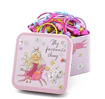Childrens Girls Polka Dot Coin Purse with 4 Small Hair Elastics Choose Colour
