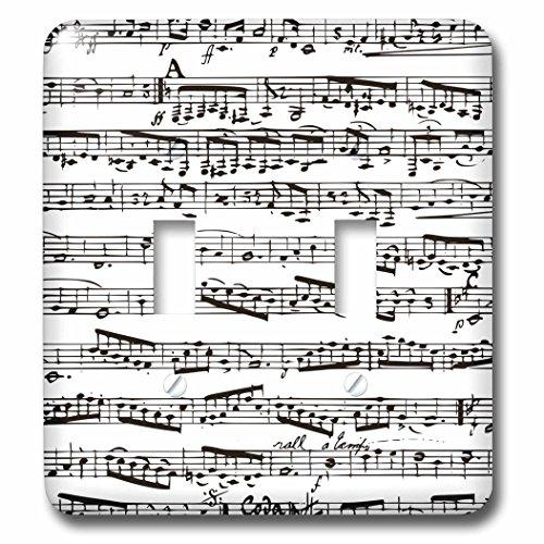 3d Rose 3dRose lsp_112825_2 Musical Notes - Vintage Sheet...