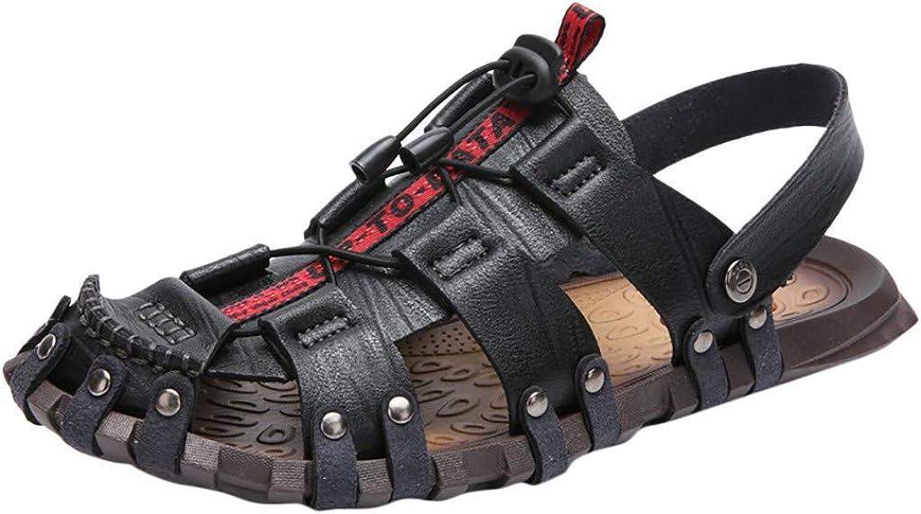 Men's Fisherman Sandal Outdoor Offroad Hiking Sandal Men's Strap Sandals Sandals for Men Leather Sandals for Men