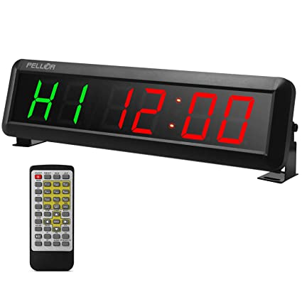 Business & Industrial Crossfit Interval Timer Wall Clock w/Remote For EMOM Tabata MMA Boxing PLC Peripheral Modules