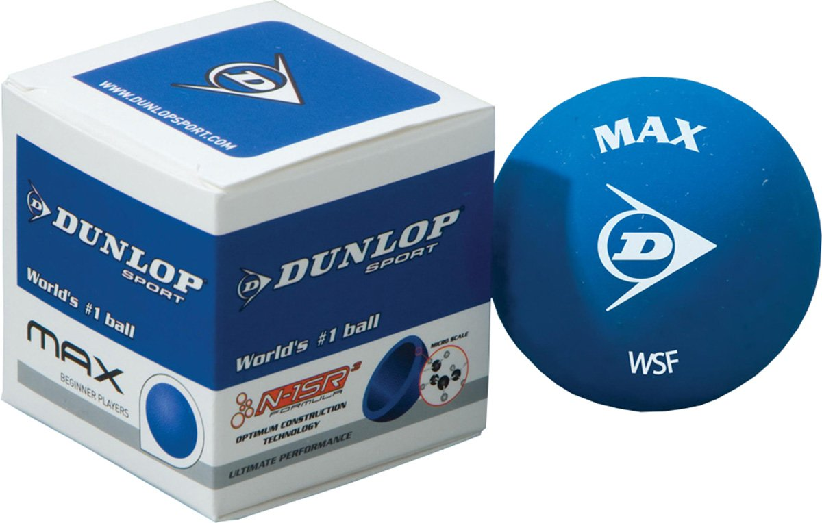 Dunlop Max Racquet Sports World No 1 Tournament Play Squash Ball (sold Single)