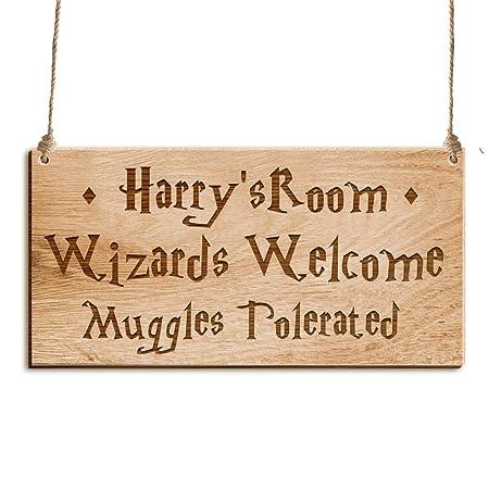 Howson London Placa de Madera Personalizable para Puerta de ...