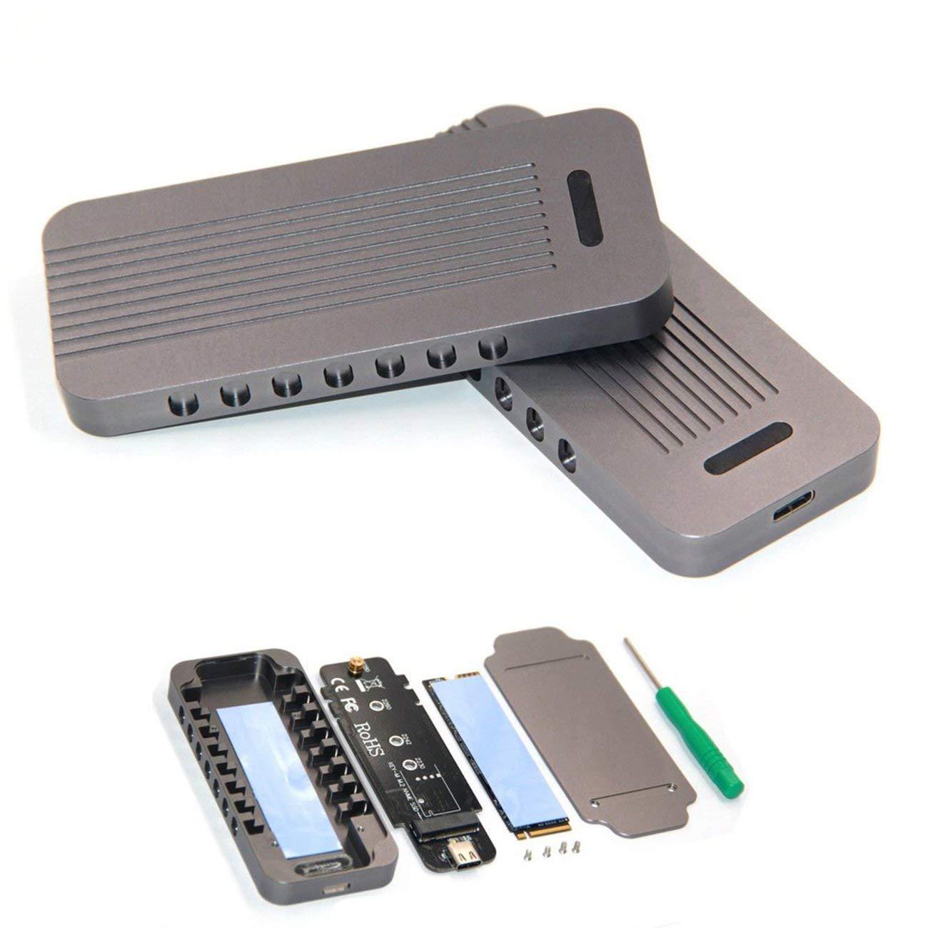LasVogos Aluminio NVMe PCIE USB3.1 HDD M.2 a la la la sentencia de la unidad USB de Disco Duro SSD bf7b8a