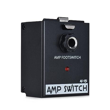 ammoon BIYANG Módulo de pedal de efectos de guitarra Interruptor amplificador de pedal AMP True Bypass