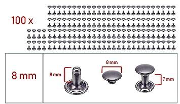 Abbeytops Doppelnieten 6x5 7x7 9x8 /& 9x12 Nieten Rapid Nieten Leder Craft Repair