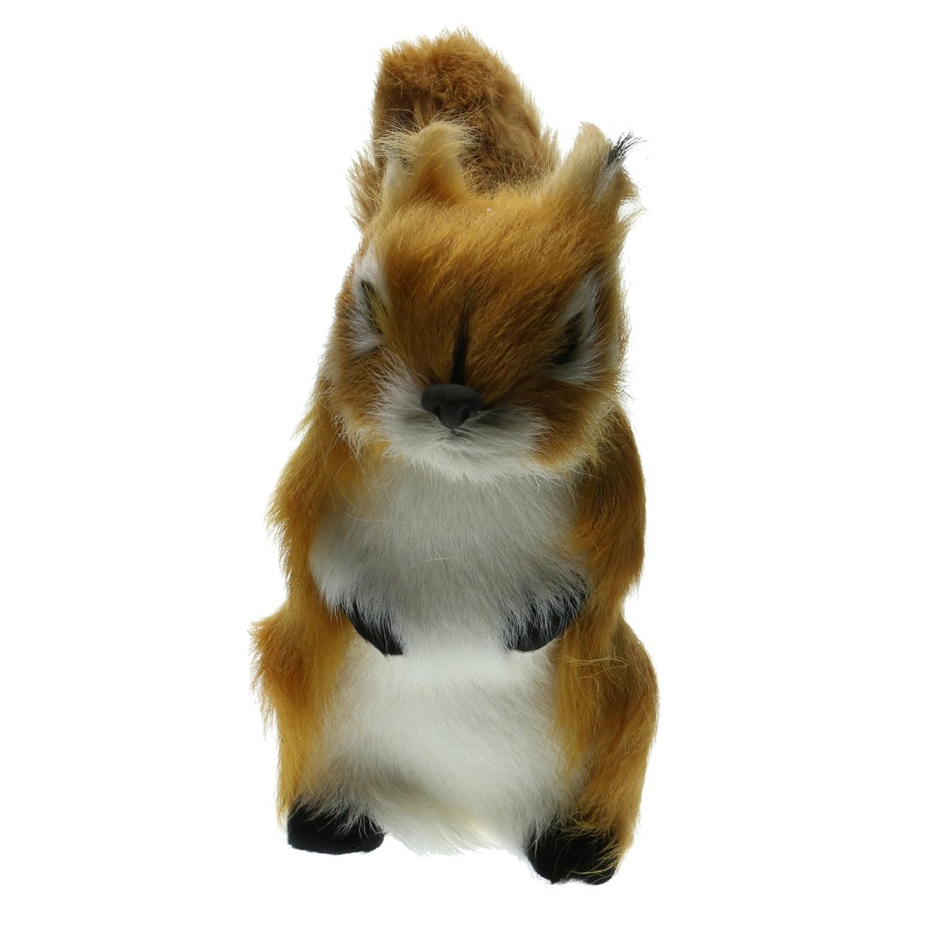 Flameer Realistic Artificial Squirrel Animals Decoration Ornaments Toys Gift Taxidermy - A