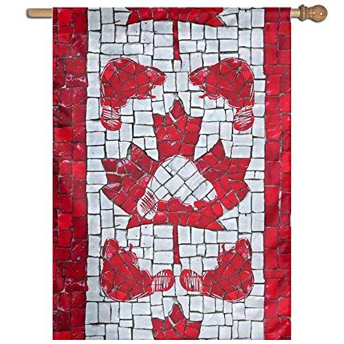 ESP Maple Leaf Canada Small Spring Yard Garden Flags Semi Tr