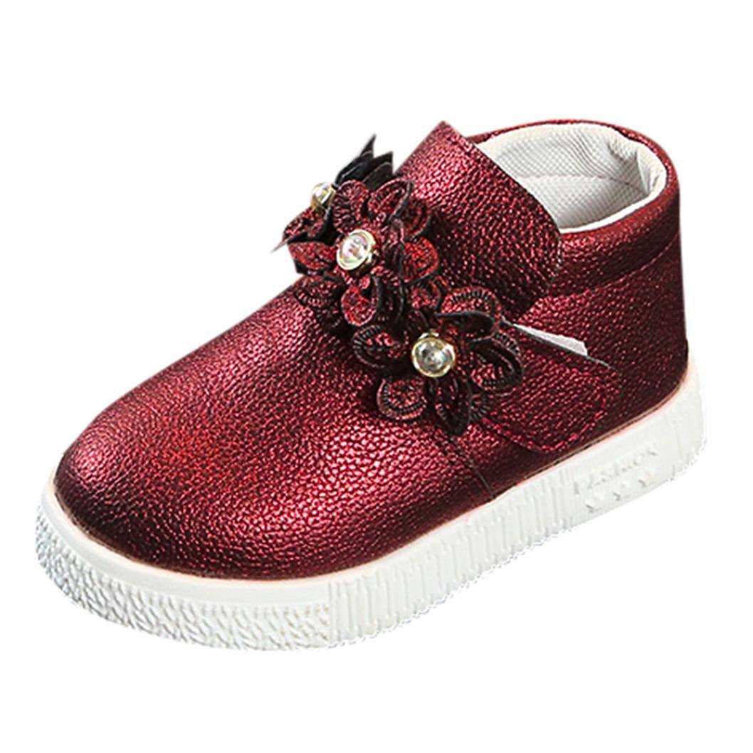 Zapatos de bebé, ASHOP Niña Niño Casuales Zapatillas del Otoño Invierno Deporte Antideslizante del Zapatos Botas Martin Sneaker con Estampado Floral 0-6 Años ASHOP_2543