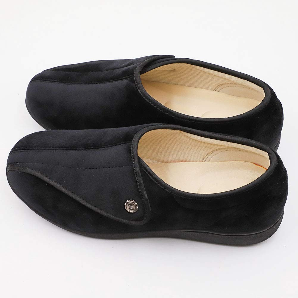 CHUANGLI Women Diabetic Orthopaedic Slipper Hook /& Loop Adjustable Closure Non-Slip Elderly Shoes for Arthritis Edema Nursing