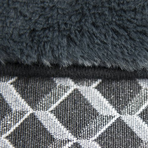 FurHaven Pet Dog Bed | Orthopedic Plush & Decor Comfy Couch Sofa-Style Pet Bed for Dogs & Cats, Diamond Gray, Jumbo by Furhaven Pet (Image #1)
