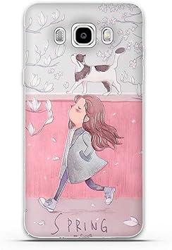 FUBAODA Funda Samsung Galaxy J5(2016) Estético Patrón,Fina ...