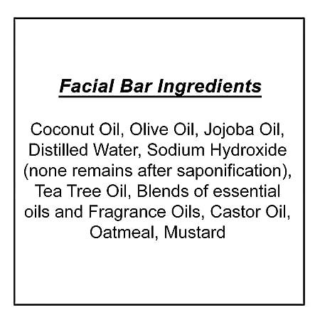 Jabón facial - Avena, lavanda y romero (4 Bar Set)- Orgánico y artesanal para pieles sensibles. Jabón corporal hidratante para piel y cara.