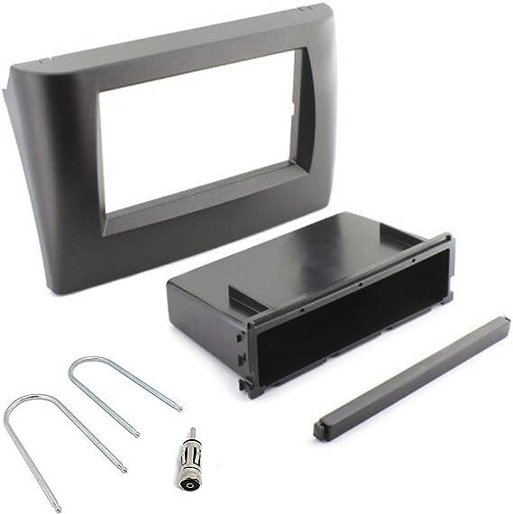 Sound-way Kit Montage Autoradio, Marco 1 DIN/ 2 DIN Radio de Coche, Adaptador Antena, Llaves Desmontaje compatible con Fiat Stilo