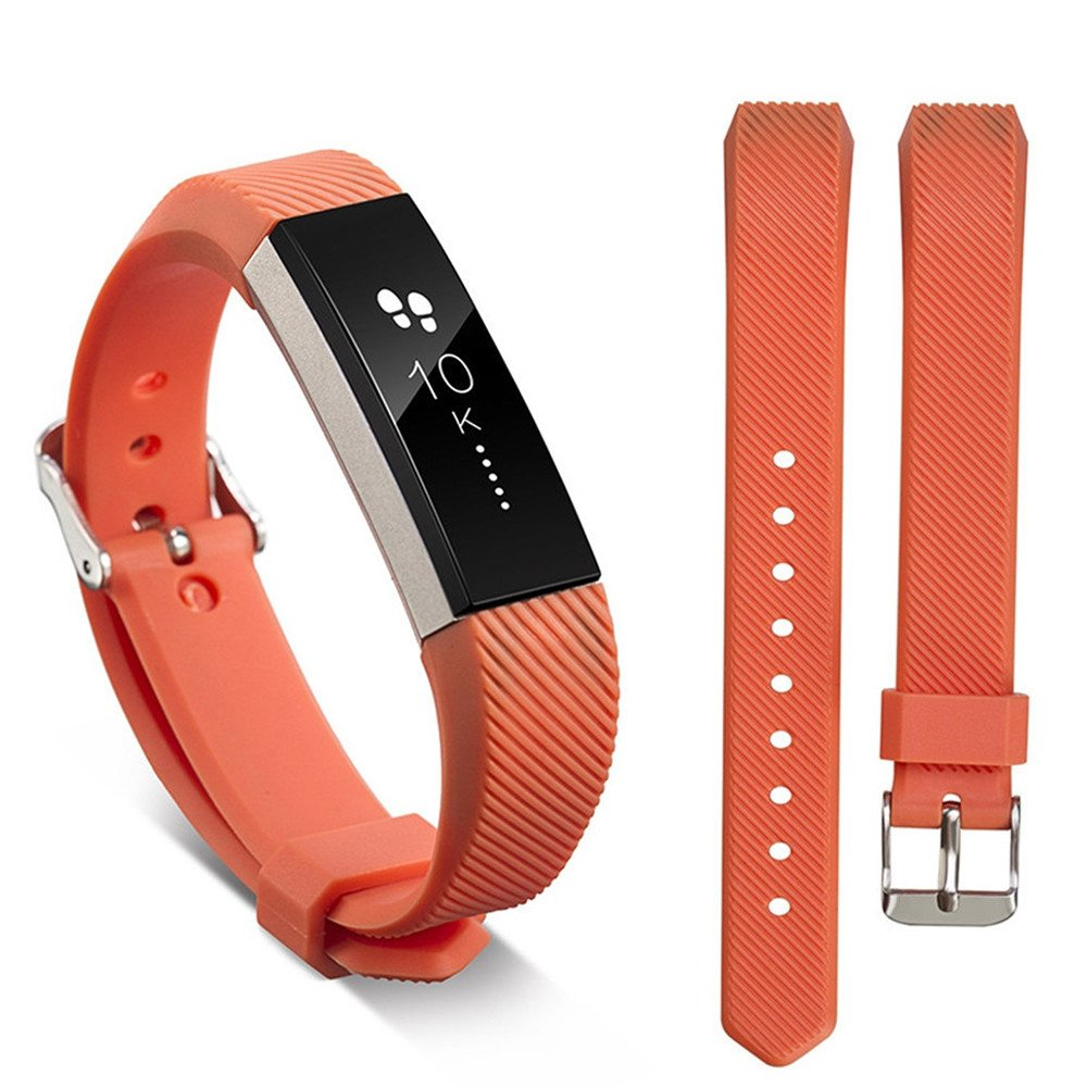 Ugood_ 2019 Replacement Wrist Band Silicon Strap for Fitbit Alta/Alta HR Smart Watch Bracelet (Orange)