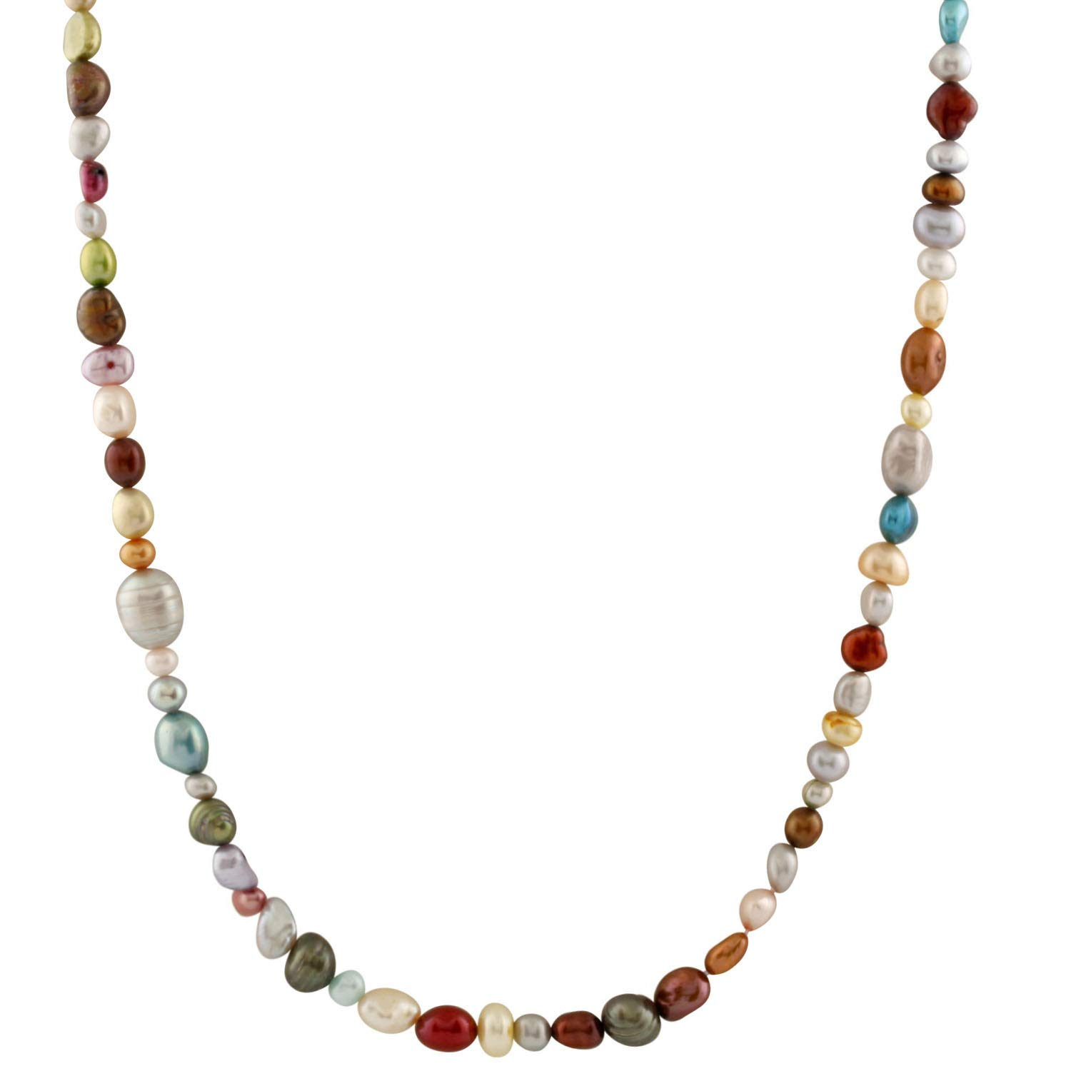 Handpicked A Quality Mixed Sizes Multicolor Freshwater Cultured Pearl Strand Endless 36 Necklace