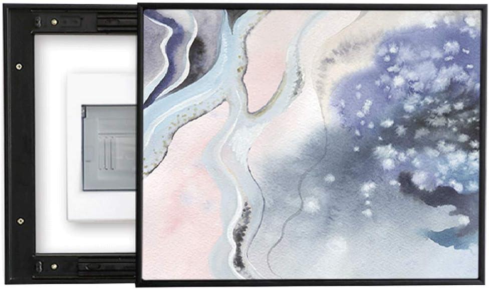 QIANDING Bigua Caja Horizontal de medidor Izquierda y Derecha Puerta corredera Decoración Resumen Imagen Simple Caja de oclusión Pintura Mural de la decoración (Size : (40 * 50cm 30 * 40cm))