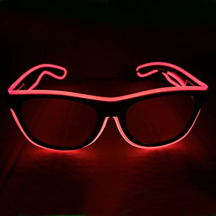 Fashion Flashing El Wire Glasses Light Up Glowing Halloween Party Rave Costume Apparel Accessories Men's Eyewear Frames