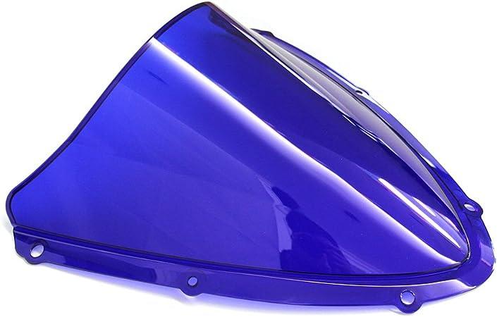JaneShop Deflettore a doppia bolla per moto per Suzuki GSX-R600 750 K8 2008-2010 parabrezza