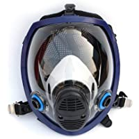 Respirator Gas Mask Full Facepiece Respirators,Face Piece Only Lightweight Full Face Chemical mask Anti-Gas Mask Acid…