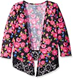 One Step Up Big Girls' 3/4 Sleeve Hacci Cropped Cardigans