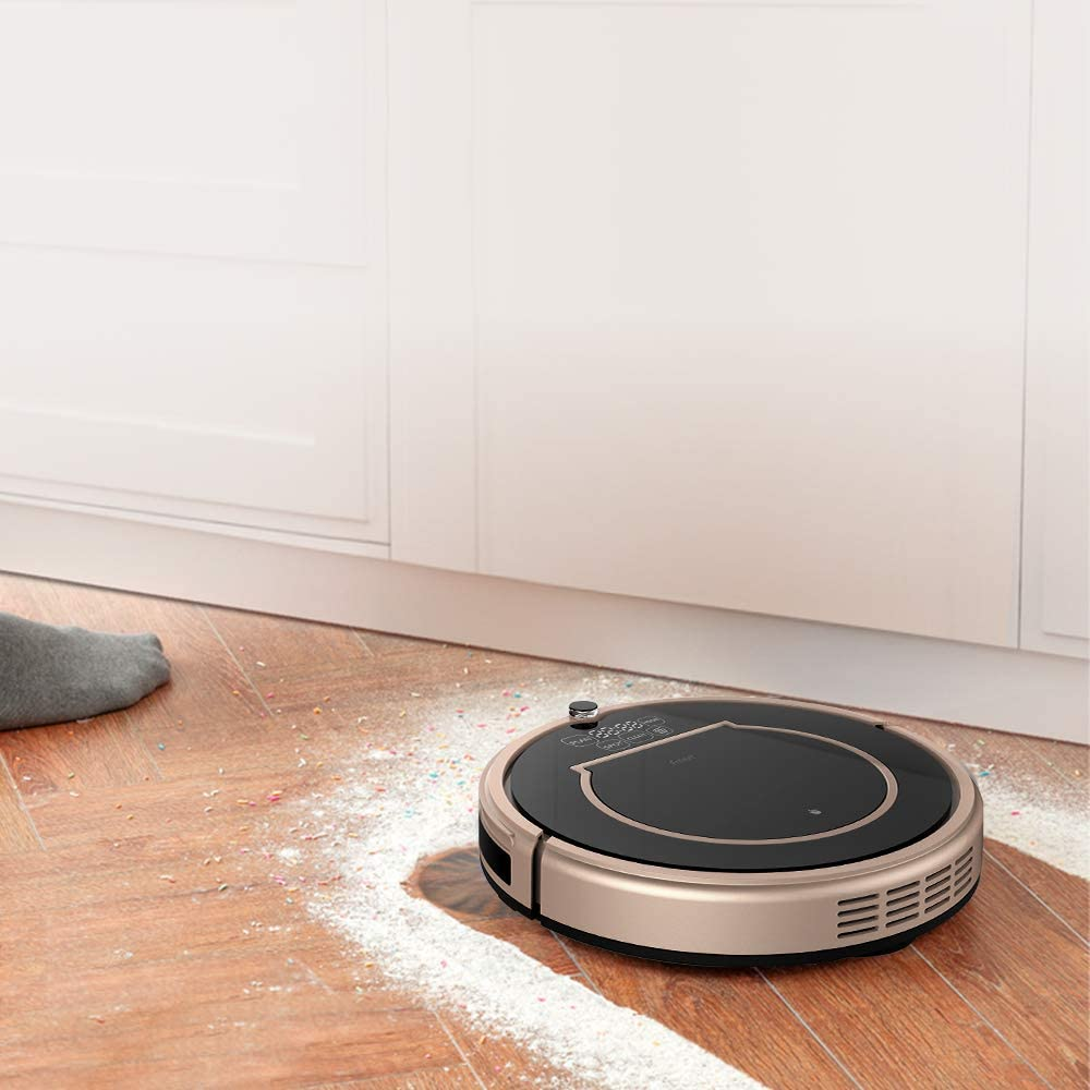 Fmart E200 1000Pa Robot Aspirador de Limpieza, Carga automática ...