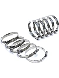 """HPS SSWC-105-127x10 HPS Stainless Steel Worm Gear Liner Hose Clamps SAE 72, Effective Size 4-1/8""""- 5"""", 1/2"""" Band"""