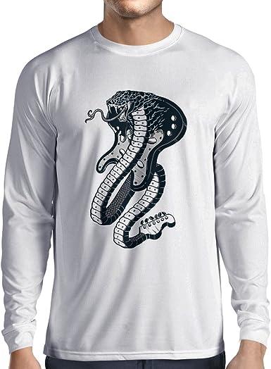 lepni.me Camiseta de Manga Larga para Hombre Guitarra eléctrica ...
