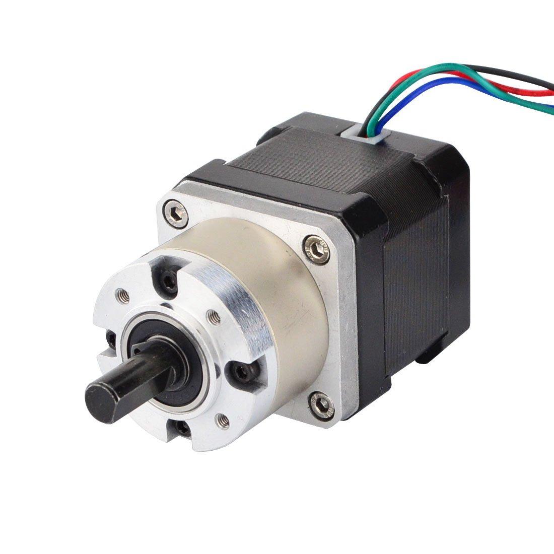 STEPPERONLINE 5:1 Planetary Gearbox Nema 17 Geared Stepper Motor 1.68A for DIY 3D Printer/CNC Extruder 17HS15-1684S-PG5