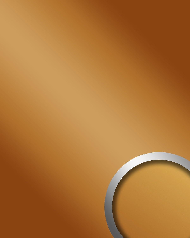 Panel decorativo autoadhesivo Optica espejo WallFace 15419 DECO GOLD Brillante resistente a la abrasión dorado 2,60 m2: Amazon.es: Bricolaje y herramientas