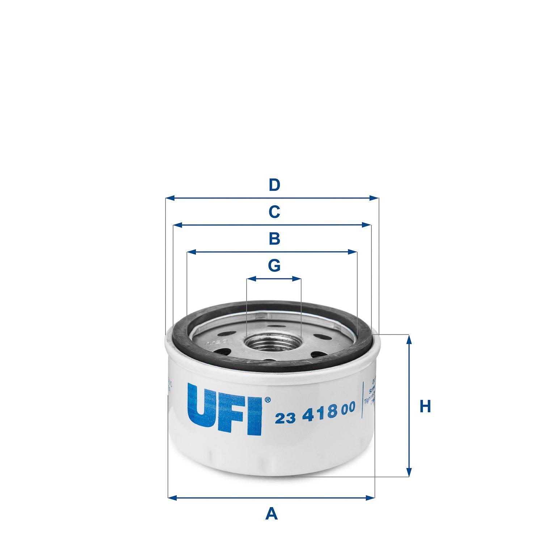 Ufi Filters 23.418.00 Filtro De Aceite