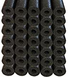 Oodles of Noodles Bulk Wholesale Deluxe Foam Swimming Pool Noodles (35 Pack) Black