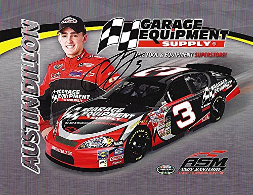 AUTOGRAPHED Austin Dillon #3 Garage Equipment Supply Racing (Childress) Nationwide Series Rookie 9X11 Signed Picture NASCAR Hero Card with COA