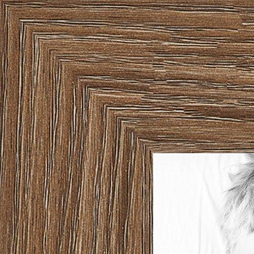 ArtToFrames 11x36 inch Medium Brown Oak - Barnwood Picture Frame, 2WOM76808-971-11x36