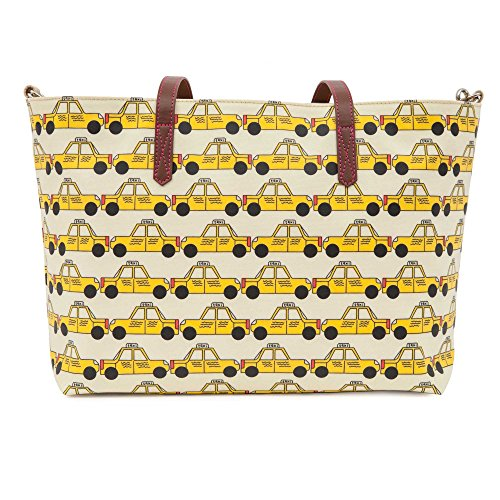 Pink Lining Notting Hill Tote bolso cambiador Yellow Taxis