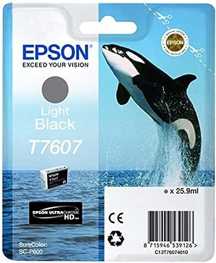 Epson T76074010 Tintenpatronen 26 Ml Hell Schwarz Bürobedarf Schreibwaren