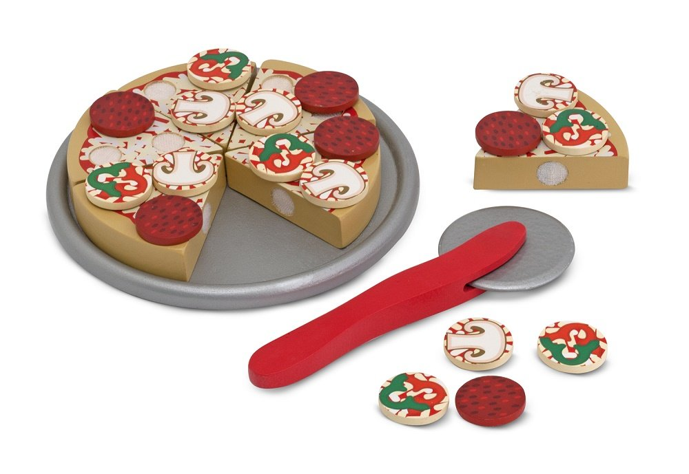 Melissa and Doug 8715 Make a Pizza Wooden Set