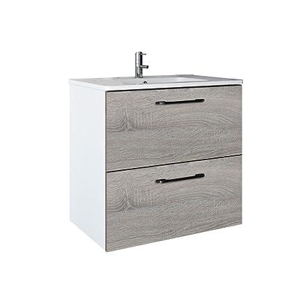 Randalco 24u0026quot; Maine Modern Bathroom Vanity Cabinet Set, Truffle Wood  Looking Finish | 24