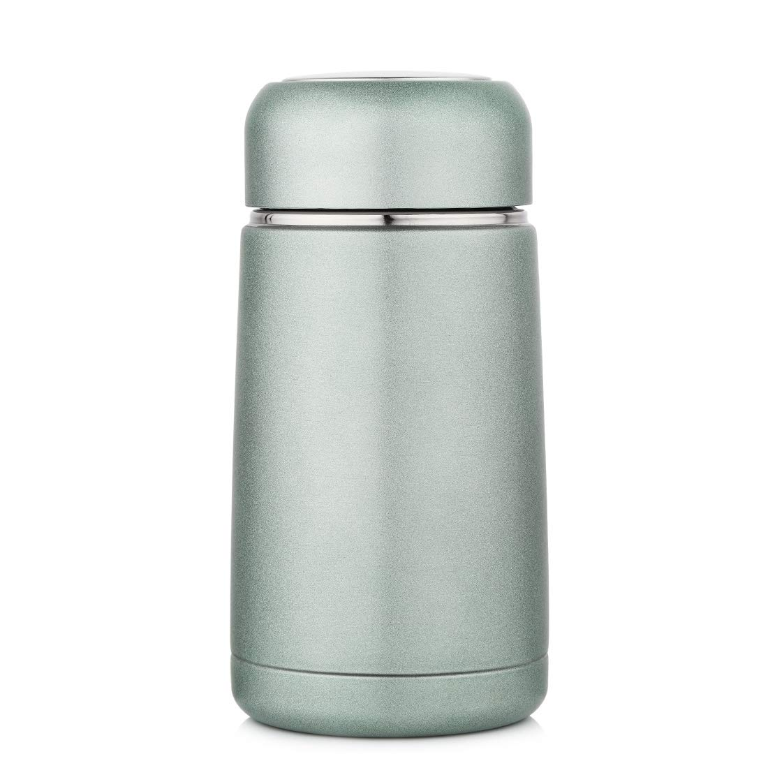 d940a95ed08 JIAQI Mini Water Bottle BPA Free, 10 oz Stainless Steel Travel Coffee Mug  with Tea Infuser, Double Wall Vacuum Insulated Leak Proof Flask for ...