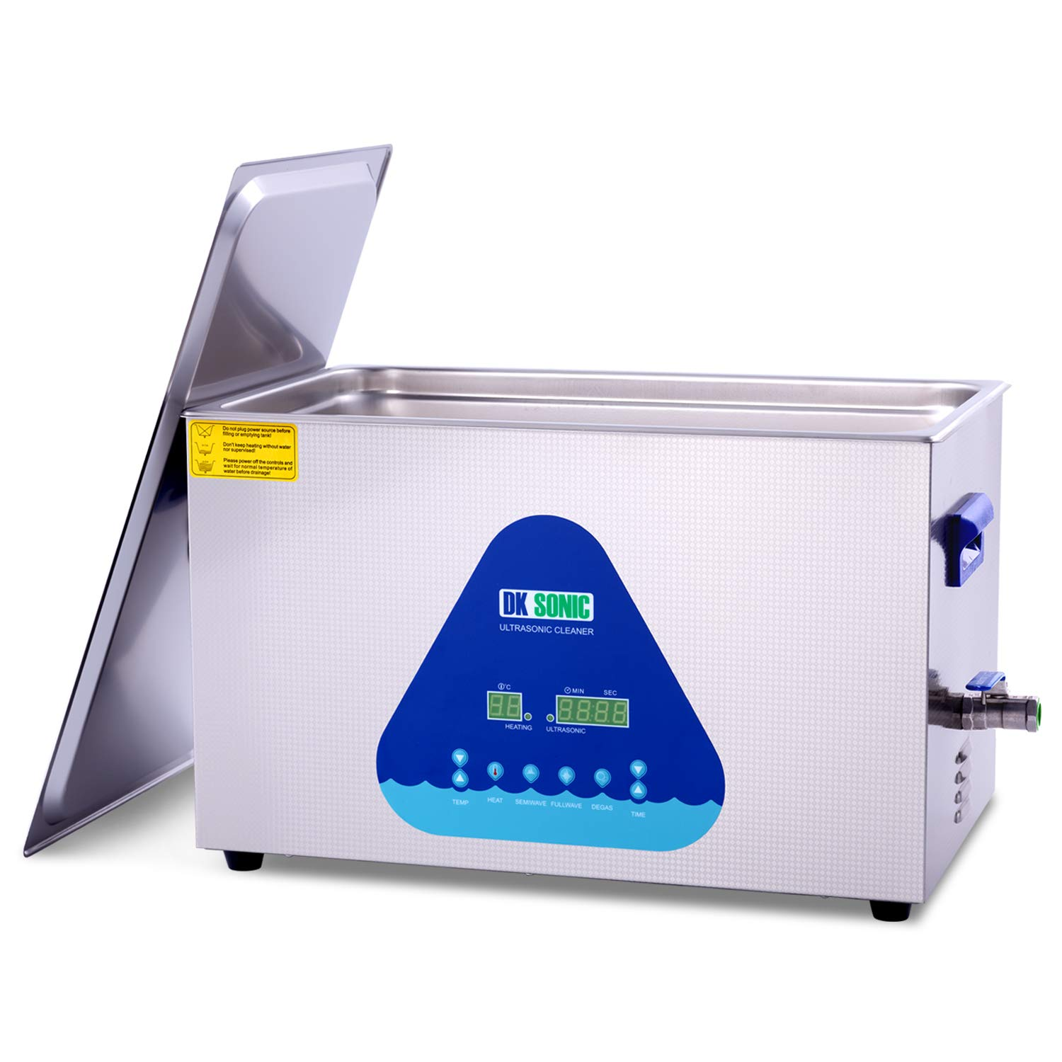 Large Professional Ultrasonic Cleaner-DK SONIC 22L 480W Sonic Cleaner with Heater and Basket for Metal Parts,Carburetor,Fuel Injector,Brass,Auto Parts,Engine Parts,Motor Repair Tools,etc by DK SONIC