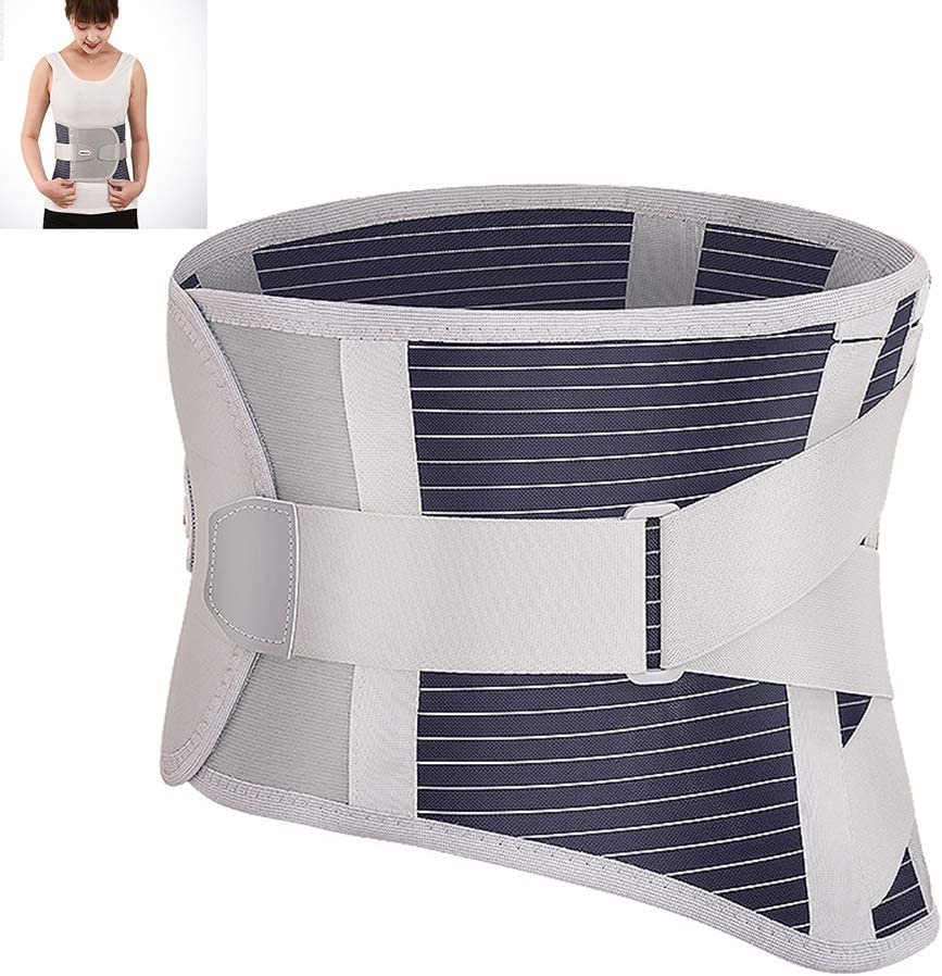 Thole Cinturones Corsé Lumbar Transpirable Soporte para La Espalda CinturóN Cintura para La Columna Dispositivo OrtopéDico Soporte Espalda Y Soportes para Hombres Mujeres