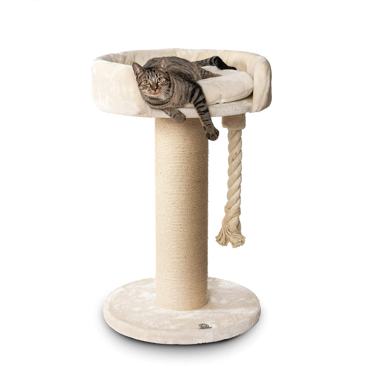 CanadianCat Company Cat Tree Lounge Ontario XXL beige with 20cmØ sisal stem, suitable for large and heavy cats, e.g. maincoon