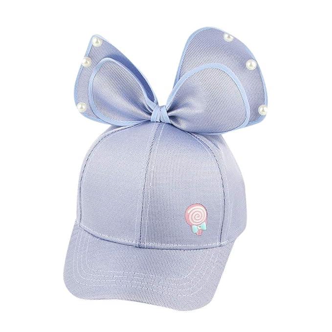 Sombrero para bebé Bowknot Gorras de Visera Perla Casual Verano Sombrero de Sol Lonshell Gorras de Béisbol bebé: Amazon.es: Ropa y accesorios